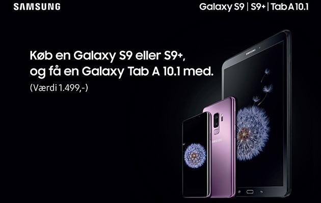 Billede af Galaxy S9/S9+ og tabletten Galaxy Tab A 10.1