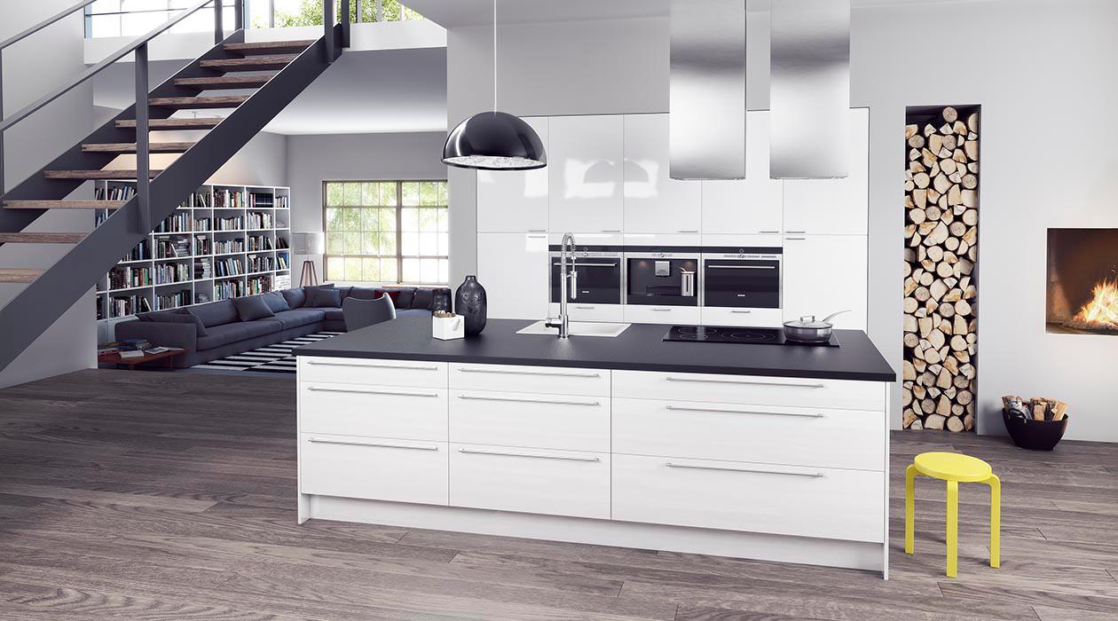 Køkken Gloss White