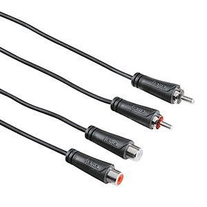 Hama Ljudkabel 2 x RCA-hane - 2 x RCA-hona (1,5 m)