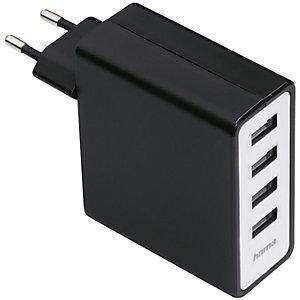 Hama AC Laddare med 4 USB-portar
