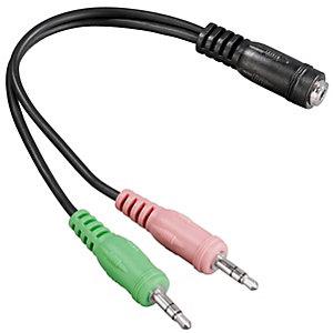 Hama 3.5 mm adapter for hodetelefoner med mikrofon