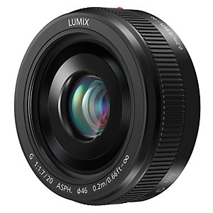 Panasonic Lumix G Vario 20mm fast objektiv (svart)