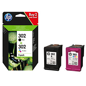 HP 302 blekkpatron 2-pakke (sort og farger)