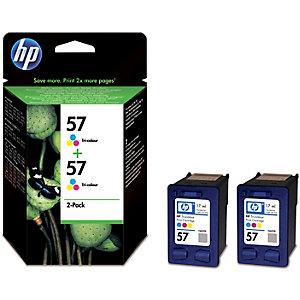 HP 57 Dual Pack Bläckpatron (trefärgad)