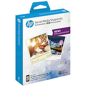HP Social Media Snapshots selvklebende fotopapir (25 ark)
