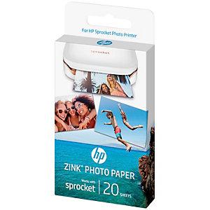 HP ZINK självhäftande fotopapper till Sprocket (20 ark)