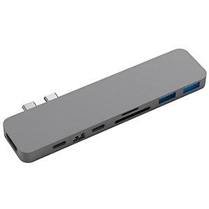 Hyperdrive 8-i-1 Pro multi-adapter till MacBook (grå)