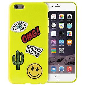 Puro fodral iPhone 6/6S Patch Mania (limegrön)