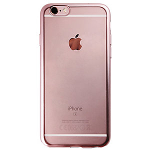 Puro Fodral iPhone 6/6s TPU satäng-ram (rosa guld)