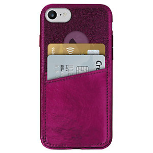 Puro iPhone 6/6S/7/8 suojakuori 2 korttitaskulla (pun.)
