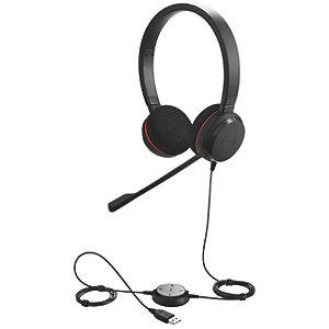 Jabra Evolve 20 MS stereo-headset med sladd