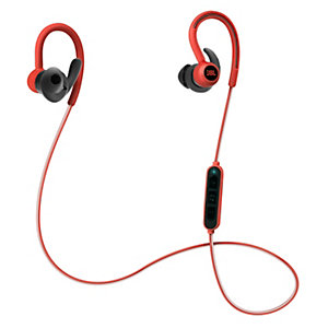JBL Reflect Contour in-ear-hodetelefoner (rød)