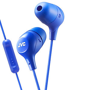 JVC Marshmallow HA-FX38M in-ear hörlurar (blå)