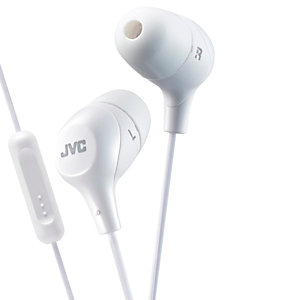 JVC Marshmallow HA-FX38M in-ear hörlurar (vit)