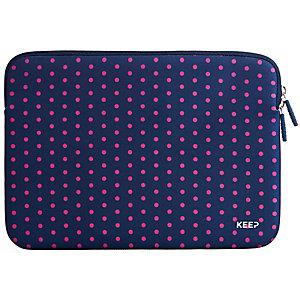 """Keep fodral till MacBook Pro 13"""" neopren (rosa prickar)"""