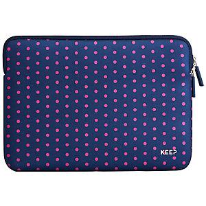 "Keep fodral till MacBook 12"" neopren (rosa prickar)"