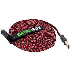 KontrolFreek USB gaming kabel (röd/svart)