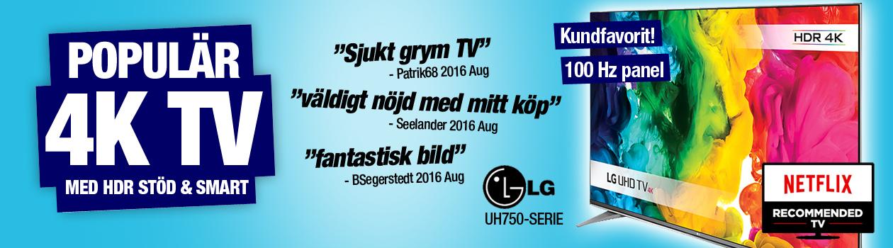 LG uh750 - Kundfavorit med 4K, HDR och 100 Hz!