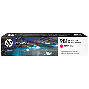 HP 981X - Høy ytelse - magenta - original - PageWide - blekkpatron