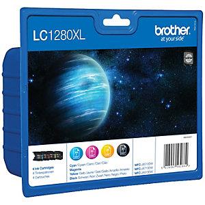 Brother LC-1280XLVAL Bläckpatron - 4 st färger