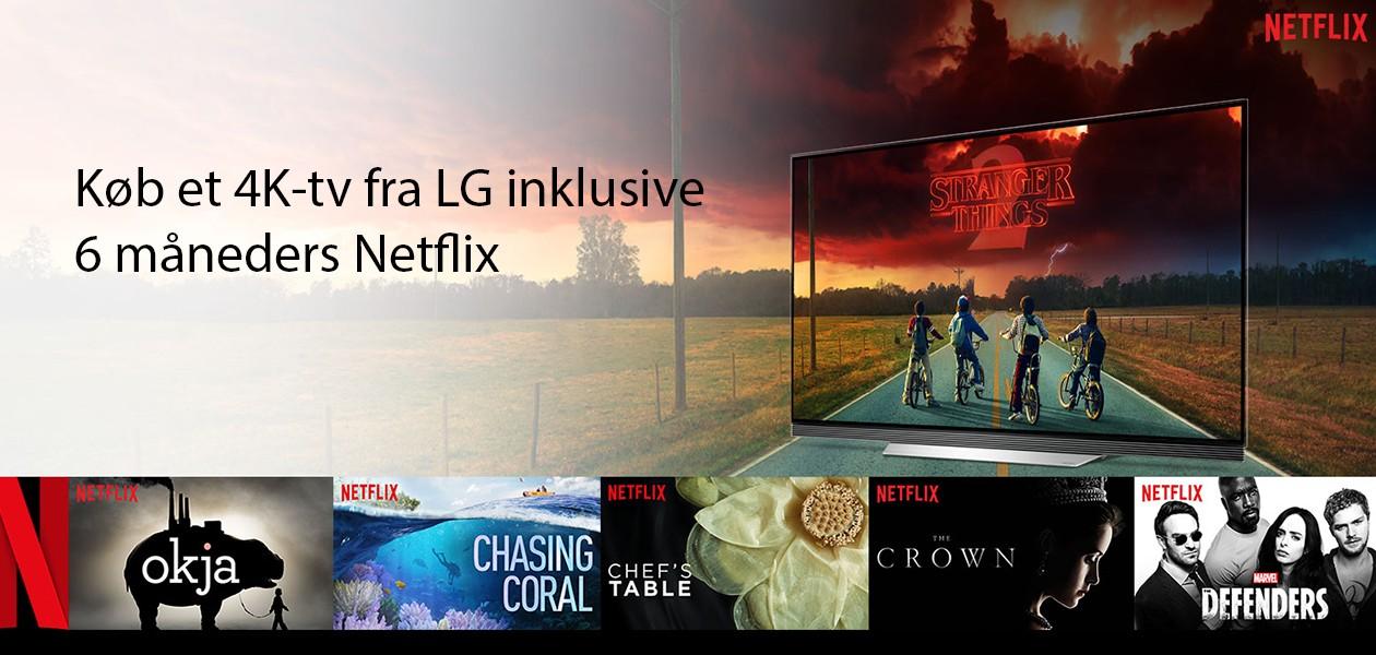 Køb et LG 4K TV og få gratis 6 måneders med Netflix