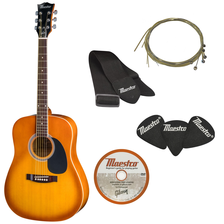 akustisk gitar i helstørrelse