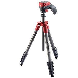 Manfrotto Compact Action stativ kit (svart/röd)