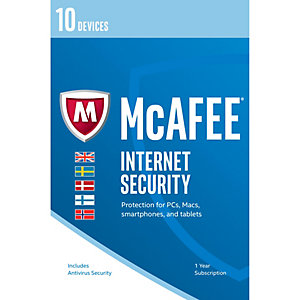 McAfee Internet Security 2017 (10 laitetta)
