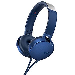 Sony hörlurar on-ear MDR-XB550 (blå)