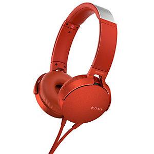 Sony on-ear kuulokkeet MDR-XB550 (punainen)