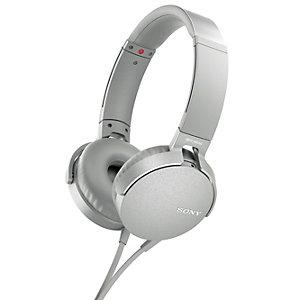 Sony hörlurar on-ear MDR-XB550 (vit)