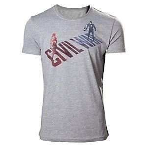 T-skjorte Captain America - Civil War grå (S)