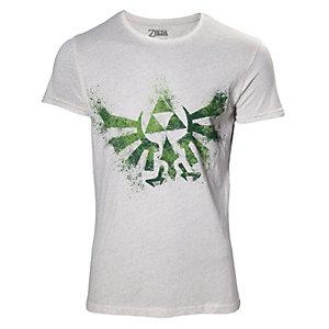 T-skjorte The Legend of Zelda Triforce-logo hvit (M)