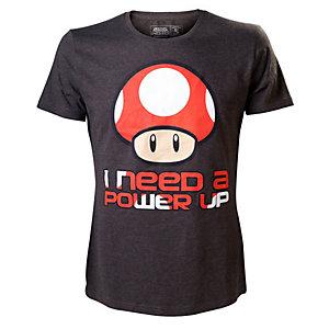 T-skjorte Nintendo - I Need a Power Up sort (M)