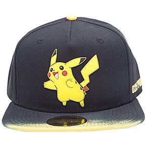 Pokémon - Pikachu snapback keps (svart/gul)
