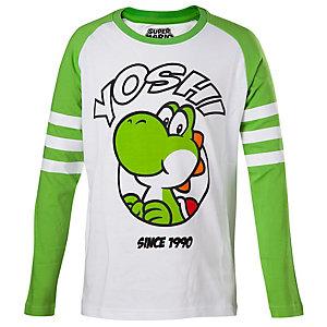 Barn T-Shirt longsleeve Yoshi vit/grön (146/152)