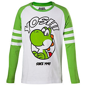 Barn T-Shirt longsleeve Yoshi vit/grön (158/164)