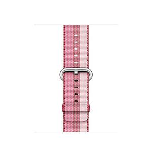 Apple 38 mm vävt nylonarmband (bär ränder)