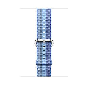 Apple 38 mm vävt nylonarmband (tahoe blå rand)