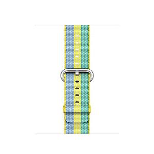 Apple 38 mm punottu nailonranneke (kelt.raidallinen)