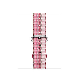 Apple 42 mm vevd nylonrem (berry stripe)