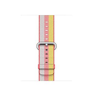 Apple 42 mm vävt nylonarmband (röd rand)
