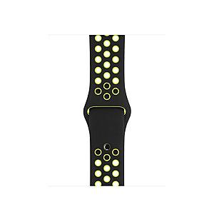 Apple 38 mm Nike Sport armband (svart/volt)