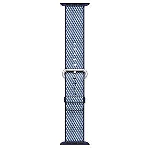 Apple 38 mm check vävt nylonarmband (midnattsblå)