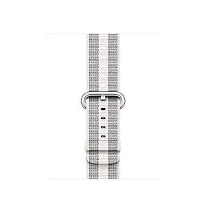 Apple 38 mm vävt nylonarmband (vit rand)