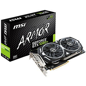 MSI GeForce GTX 1080 Ti Armor OC grafikkort (11 GB)