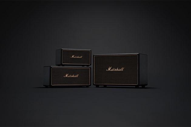Marshall sorte højttalere