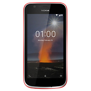 Nokia 1 smartphone (röd)