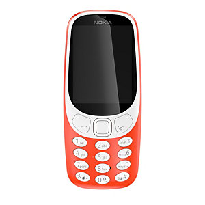 Nokia 3310 mobiltelefon (röd)