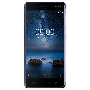 Nokia 8 smartphone (blank blå)